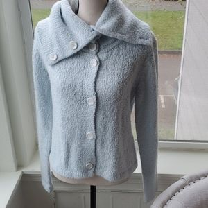 Kenzie Button Down Light Blue Sweater Size Large